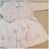 Vestido coelhinho - 9 a 12 meses - Tex