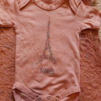 Charmoso Body  souvenir Paris - 9 a 12 meses - Importada