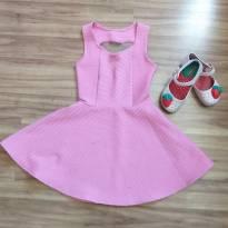 vestido rosa coração - 4 anos - Sem marca