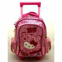 Mochila Média Rodinhas Hello Kitty Love -  - Hello Kitty by Sanrio