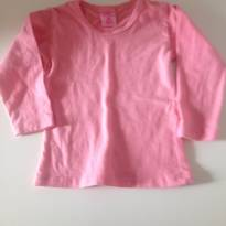 Blusa em cotton rosa - 24 a 36 meses - Outra