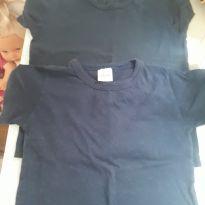 Duplinha de camisetas marinho - 3 anos - Elian