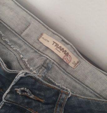 Calça flare jeans - P - 38 - Outra