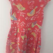 Vestido Pássaros - 4 anos - Boca Grande
