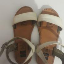 Sandália branca em couro - 25 - Kids Company