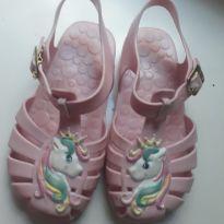 Sandália unicórnio rosa - 26 - Pimpolho Calçados