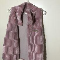 Colete peludinho rosa - 6 anos - Bebelândia