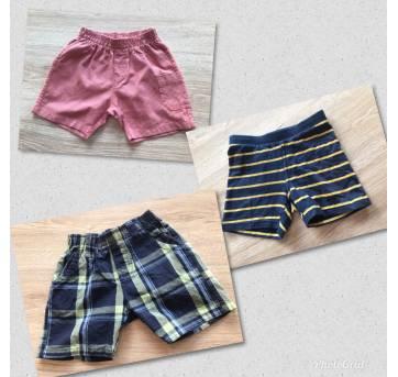 Kit 3 Shorts 9 a 12 meses - 9 a 12 meses - Não informada