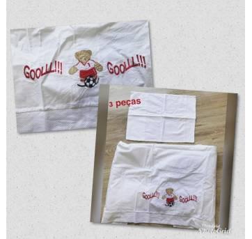 Jogo de lençol 3 peças - Sem faixa etaria - Minha casa Baby