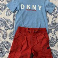 Conjunto DKNY Camiseta + Camisa + shorts sarja TAM 2 - 2 anos - DKNY