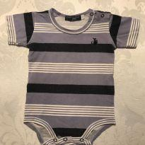 Body listrado - 6 meses - Empório Baby & Kids