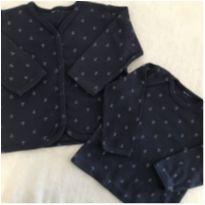 Casaquinho e blusa manga longa - 3 a 6 meses - Pulla Bulla