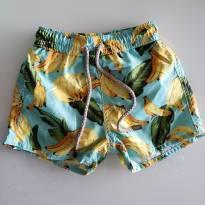 Short Banho Bananinhas - 6 a 9 meses - Um mais um
