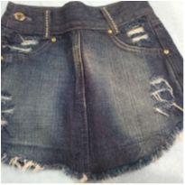 Saia jeans - 8 anos - Marca não registrada