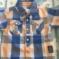 Camisa xadrez (M) - 3 a 6 meses - Milon