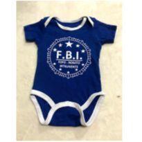 Body FBI-fofo bonito e inteligente - 6 a 9 meses - Basic + Baby