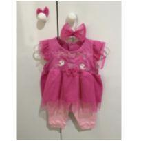Saída de maternidade rosa - 0 a 3 meses - Drika Kids