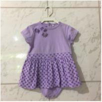 Vestido body infantil - 9 a 12 meses - Baby Club