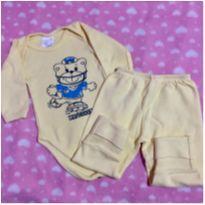 Conjunto Infantil Amarelo - 3 a 6 meses - Mafessoni