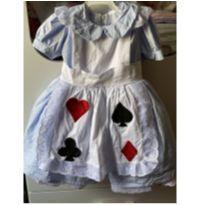 Vestido Alice no país das maravilhas - 1 ano - Nacional sem etiqueta