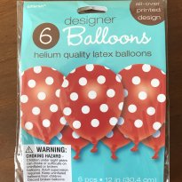 Balão Vermelho Poá Importado  - 6 unidades - Festas Infantis -  - Amscan (USA)
