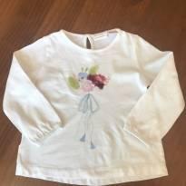 Blusa Branca Zara - 18 meses - Zara Baby