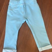 Calça Legging Azul - 9 a 12 meses - Zara Baby