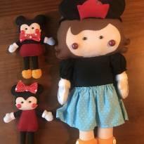 Boneca Feltro Minnie Vintage Clássica -  - elo7