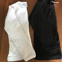 Dupla - Blusas manga longa preta e branca - 24 a 36 meses - Outros