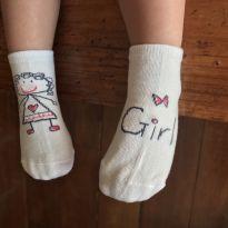 Meia antiderrapante Girl - 1-2 anos - 12 a 18 meses - Outros