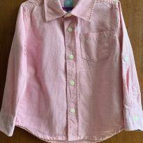 Camisa Rosa  Baby Gap -  Tam  3 anos - 3 anos - Baby Gap