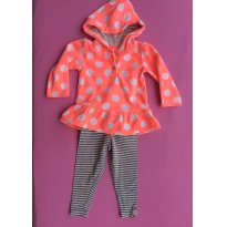 Conjunto Fleece e legging - 18 meses - Carter`s