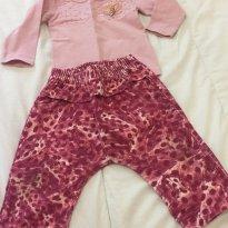 Conjunto calça Saruel baby - 6 a 9 meses - Milon