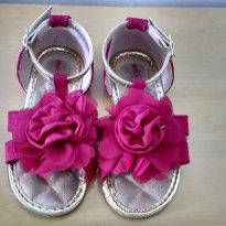 Sandália Molekinha Baby Pink/ouro no. 22 - 22 - Molekinha