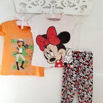 Kit 3pçs Minnie Mouse Blusas e Calça Tam 4 - 4 anos - Disney