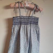 Blusa bata infantil azul de florzinhas Tam 12 - 12 anos - EPK