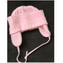 Touca de lã cor de rosa - 2 anos - Sem marca