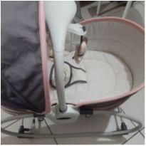 Cadeira Moisés e descanso 5 em 1 Cinza e Rosa Mastela -  - Mastela