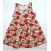 Vestido vermelho ursinhos - 1 ano - Elian