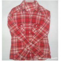 Camisa xadrez vermelha - 16 anos - C&A