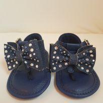 Sandália de dedo azul com strass - 13 - Pampili