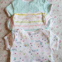 KIT 3 bodies estampadinhos - 3 a 6 meses - Primark