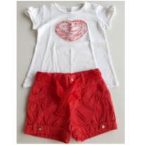 64. Conjunto Zara Coração - 24 a 36 meses - Zara e Zara Baby