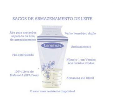 Lansinoh - saco de armazenamento de leite - Sem faixa etaria - Lansinoh