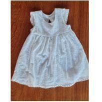 Vestido branco - 12 a 18 meses - Não informada
