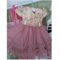 Vestido de festa - 3 a 6 meses - Menina Bonita