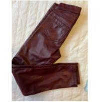 Calça legging de couro sintético - 8 anos - Hering Kids