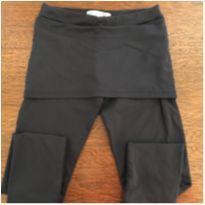 Calça legging cotton - 7 anos - Não informada e Marca não registrada