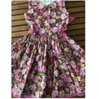 Vestido Florido - 8 anos - Feito à mão