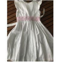 Vestido Lindo Branco - 7 anos - Feito à mão